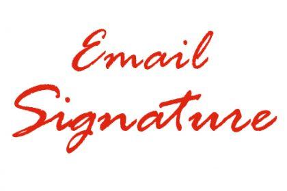 Υπογραφή email